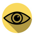 eye sign flat black icon vector image