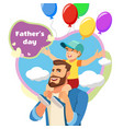 fathers day celebration cartoon concept vector image