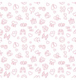 february 14 outline seamless pattern or background vector image vector image
