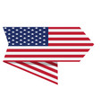 flag of the united states on a label vector image vector image