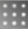 flash light camera effect twinkle sparkle vector image