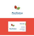 flat leafs logo and visiting card template vector image vector image