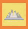 flat shading style icon cracks mountains vector image