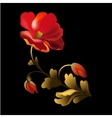 Flower element on black background vector image
