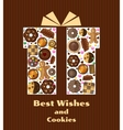Gift box with cookies vector image vector image