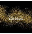 Gold confetti glitter on black background vector image vector image