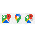 google maps icons set vector image