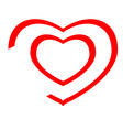 Heart icon lines vector image