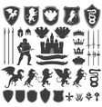 Heraldry Decorative Graphic Icons Set vector image vector image