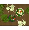 ketupat lebaran idul fitri ied food indonesia vector image vector image