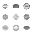 Label set icons in monochrome style Big vector image vector image