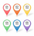 map markers pointers icons with blank place vector image