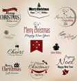 Merry christmas labels 2 vector image vector image
