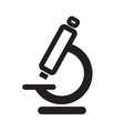 microscope icon clinically approved product vector image vector image
