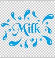 milk splash spray icon in flat style milk drink vector image