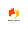 music logo design flat music note symbol design vector image