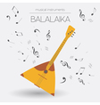 Musical instruments graphic template Balalaika vector image vector image