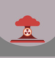 nuclear bomb explosion in eco vector image vector image