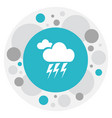 of weather symbol on lightning vector image vector image