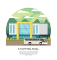 Orthogonal Shopping Mall Round Design vector image