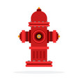 outdoor fire hydrant vector image vector image