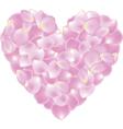 petal shaped heart vector image vector image