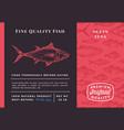 premium quality ocean tuna abstract vector image