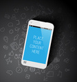Realistic smartphone template with background vector image vector image