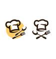 restaurant logo or symbol menu cooking icon vector image