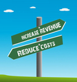 Revenue and cost vector image vector image