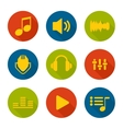 Set of icons music for app vector image vector image