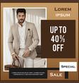 special clothing sale social media post design vector image vector image