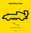 speed car track vector image vector image