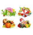 spring summer autumn winter four seasons concept vector image