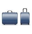 suitcases for travel airport vector image vector image