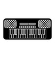 synthesizer icon black sign vector image
