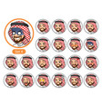 the fourth set of saudi arab man cartoon character vector image vector image