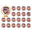 the fourth set of saudi arab man cartoon character vector image