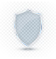 transparent glass shield glass badge icon vector image vector image