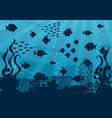 undersea cartoon landscape vector image vector image