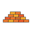 wall brick under construction warning concept vector image vector image