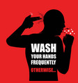 wash your hands campaign poster vector image
