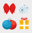 set of colorful christmas icons vector image