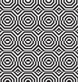 Black and white alternating octagons with vector image
