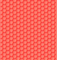 3d seamless geometric orange pattern of hexagons vector image