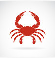 a crab on white background animals crab icon sea vector image