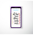 a true love story never ends smartphone flat vector image vector image