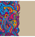 Abstract background with a paisley pattern vector image vector image