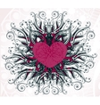 abstract heart with floral elements vector image vector image