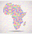 abstract map of africa colorful dots vector image vector image